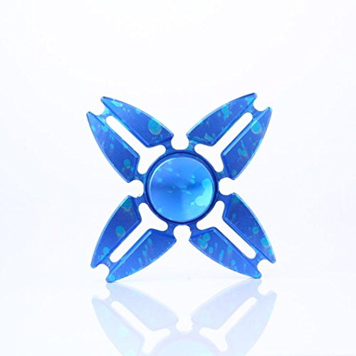 Preisvergleich Produktbild Fidget Hand Spinner Dreieck Einzelfinger Dekompression Gyro Hand Spinner Fingerspitze Spinner Gyro Adult Kinder Spielzeug Stress Reduzierstück (Blau)