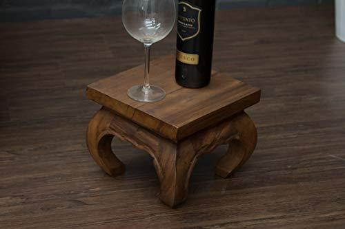 Opiumtisch, Beistelltisch, Tisch, 27x27x20, Massiv, Holz, Holztisch, Thailand, Neu -