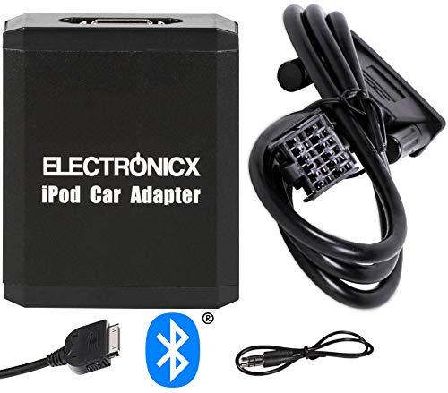 Electronicx Adaptador de radio para coche compatible iPhone iPad iPod bluetooth manos...