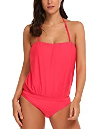 Avidlove Tankini Set Two Piece Damen Mit Höschen Monokini Neckholder  Badeanzug Swimwear Plus Size Strandbekleidung 5264573e36