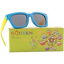 GQUEEN Gafas de sol polarizadas flexibles de goma para niños y infantes de 3-7