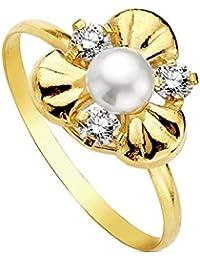 Sortija oro 18k perla multipiedra [AB3114]