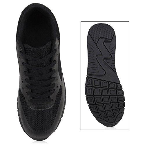 Herren Damen Sportschuhe Laufschuhe Runners Sneakers Prints Schwarz Schwarz Camargo