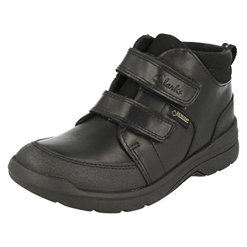 Clarks ObieTop GTX Infant School Boys chaussures en noir Black Leather