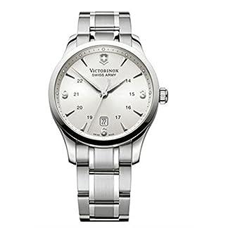 Victorinox Classic 241476 – Reloj analógico de cuarzo para hombre, correa de acero inoxidable color plateado