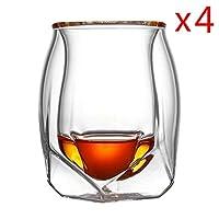 6YMN wine glasses Cocktail Whiskey 4 Pcs Lot Britain Glen Norlan Whisky Rock Glass Double Deck Whiskey Wine Cup XO Chivas Brandy Snifer Der Whiskybecher #343
