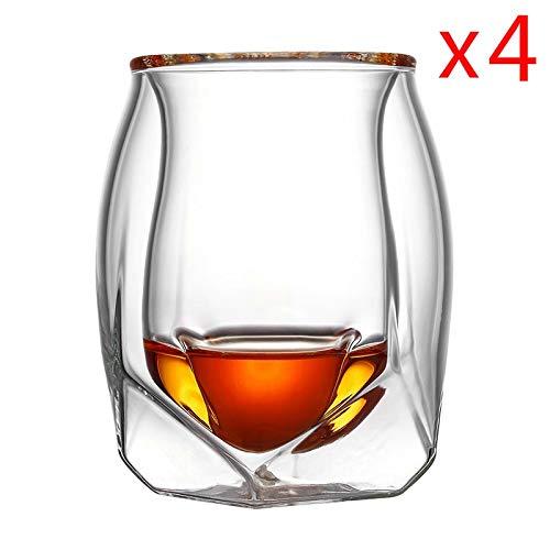 4 Rocks Gläser (7°MR Bierkrug 4 Teilelos Großbritannien Glen Norlan Whisky Rock Glas Double Deck Whisky Wein Tasse XO Chivas Brandy Snifer Der Whiskybecher)
