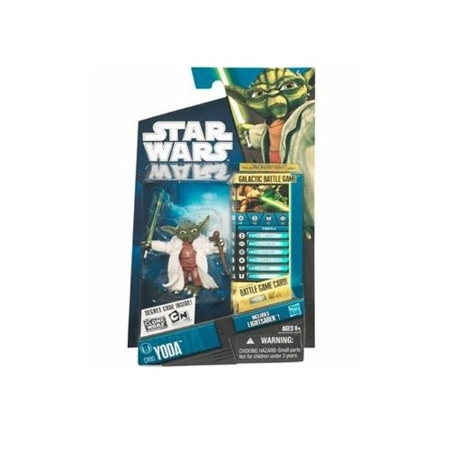 Star Wars 2010 Clone Wars Animated Action Figure CW No. 05 Yoda (japan import)