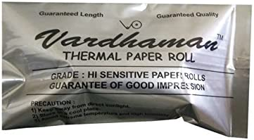Vardhaman Thermal Paper Roll - 57mm X 15mtrs (Pack of 04 Rolls)