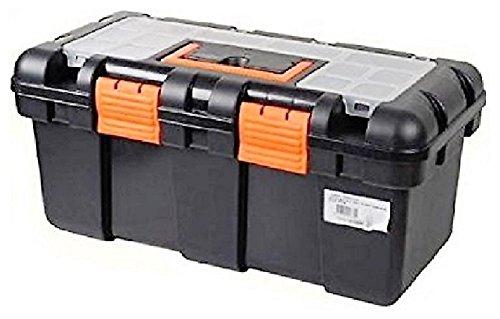 Leerer Werkzeugkoffer, Toolbox, Werkzeugbox aus Kunststoff mit versenkbarem Griff, ca. 50x25x23