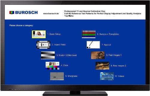 Professional TV and Beamer Calibration Disc - Panasonic Lcd-plasma-tv