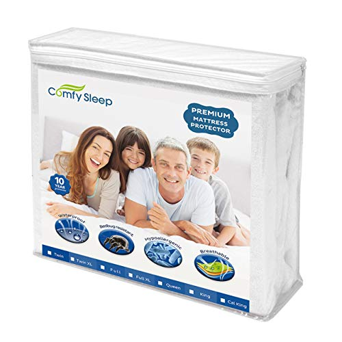 Comfy Sleep Premium Matratzenschoner, wasserfest, hypoallergen Queen weiß
