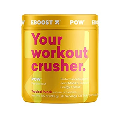 EBOOST POW Natural Pre-Workout Powder | Maximize Workouts & Recover Faster Smoother from EBOOST