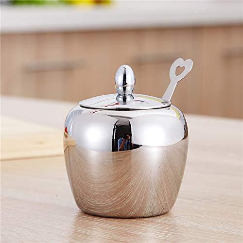 HEsdzML Pot à épices en acier inoxydable pour sucre, épices et condiments Argenté
