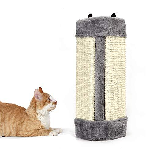 Nobleza - Rascador de Gatos para Esquina de Pared. Afilador de Garras de sisal. Color Gris, L41 * W24 * H2.5CM