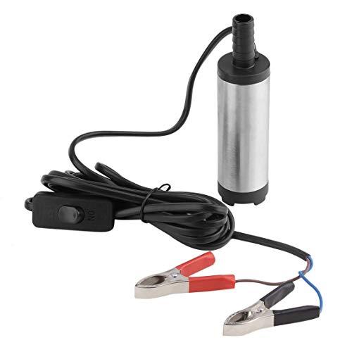 Elektrische Tauchpumpe Mit Schalter 2 Clips, 38mm 12 V DC Auto Elektrische Tauchpumpe Für Heizöl Wasser Transferpumpe Motor 12L / Min Mit Eingebautem Filter Net