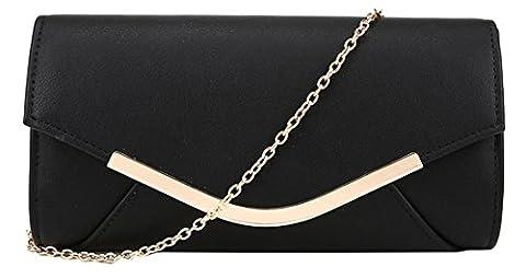 Kukubird Harlie Simple Panel Envelope Evening Party Prom Clutch Bag Purse with Kukubird Dustbag -