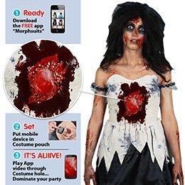 Costume Beating Heart Zombie Female Fancy Dress