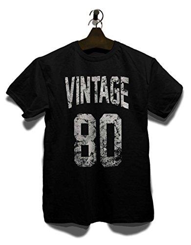 Vintage 1980 T-Shirt Schwarz