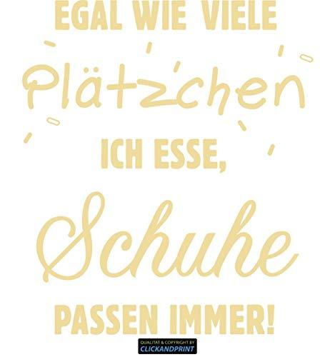 CLICKANDPRINT  Aufkleber » Schuhe passen Immer!, 130x113,0cm, Creme • Dekoaufkleber/Autoaufkleber/Sticker/Decal/Vinyl
