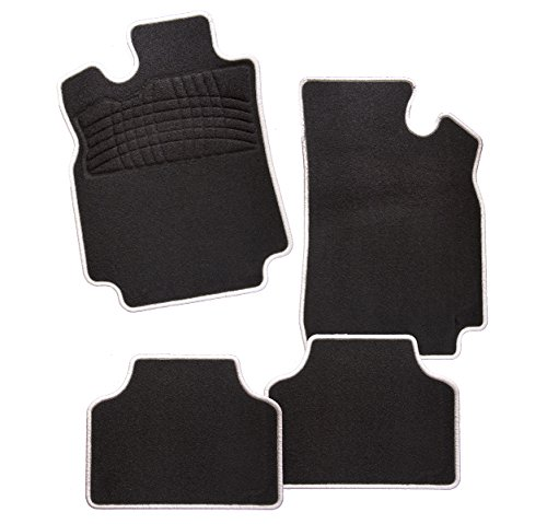 Preisvergleich Produktbild CarFashion  Auto Fußmatte  EDIT-BLACK'N-WHITE