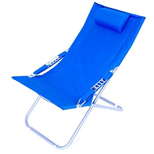 Fauteuils inclinables Chaise Longue Pliante Chaise Longue Sieste Chaise Pour Compagnon Toile Chaise De Plage Sun D'extérieur Moon Chair D'extérieur Enjoy The Sun Convenient Folding