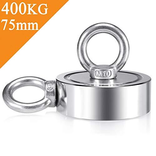 Uolor 400Kg Haftkraft Doppelseitig Neodym Ösenmagnet, Super Stark Power Magnete Perfekt zum...