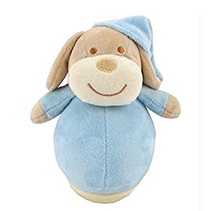 Duffi Baby- Peluche Balanceo Perrito, 100% Poliéster, Color Azul (Master Baby Home, S.L. 0759-12)
