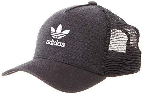 adidas Trefoil Trucker Hat, Black/White, OSFW