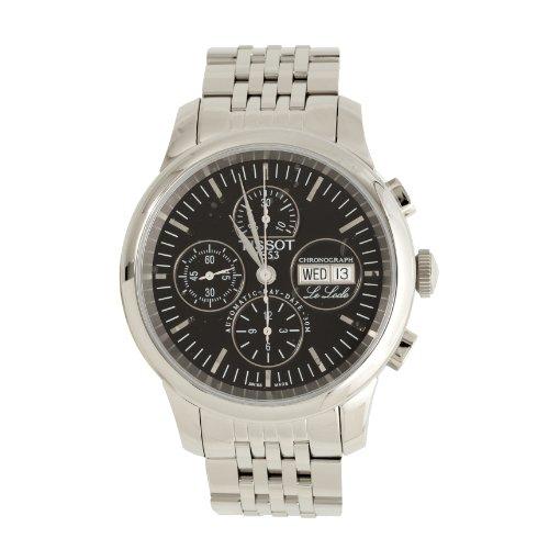 Tissot Le Locle Homme Cadran noir Bracelet en acier inoxydable montre
