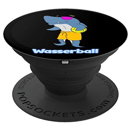 Wasserball Hai Maskottchen Geschenk - PopSockets Ausziehbarer Sockel und Griff für Smartphones und Tablets