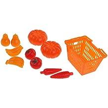 Baoblaze 11 Pcs Set Di Carrello Acquisto Shopping Ceste Frutte Verdure Negozio Accessori Per Bambole Plastica