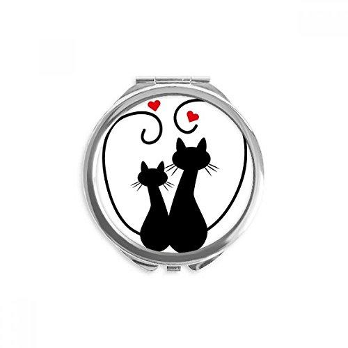 ebhaber Sihouette Tier Valentine Spiegel Rund bewegliche Handtasche Make-up 2.6 Zoll x 2.4 Zoll x 0.3 Zoll Mehrfarbig ()