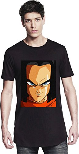 Grunge Android 17 Face Long T-shirt Small