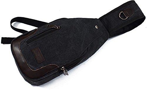 BULAGE Tasche Männliche Version Die Brust Die Brust Große Kapazität Brusttaschen Reise Rucksäcke Leinwand Lässig Messenger Sport Im Freien Black