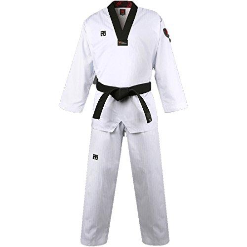 Mooto Corea Taekwondo básica 4.5 Uniforme dobok para Hombre 180(Altura: 180~189cm)(5.90~6.20ft) Blanco
