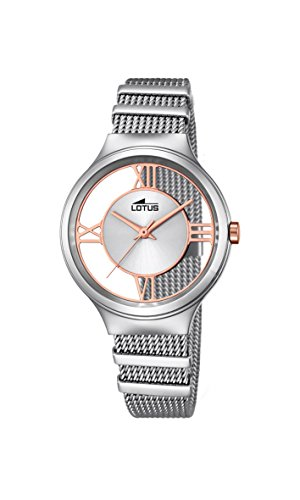 Lotus Women's Quartz Watch with Silver Dial Analogue Display and Silver Stainless Steel Bracelet 18331/1