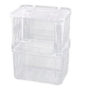 DealMux Plastic Aquarium Suction Cup Divider Fish Spawn Hatchery Breeder Case Box Clear 10