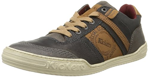 Kickers  Jexplore,  Sneaker uomo Grigio Gris (Gris Foncé/Camel) 46