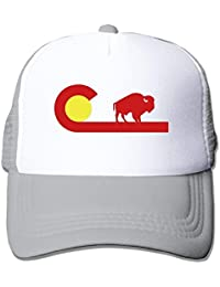 BestKK YCTBHATS Colorado Buffalo State Flag Mesh Unisex Adult-One Size  Snapback Trucker Hats bcbafd33d9b4