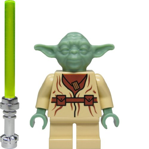 """LEGO Star Wars Figur Jedi Meister Yoda (aus dem Bausatz 4502) mit Chromlaserschwert, \""""alte 1. Version\"""", EXTREM SELTEN!"""