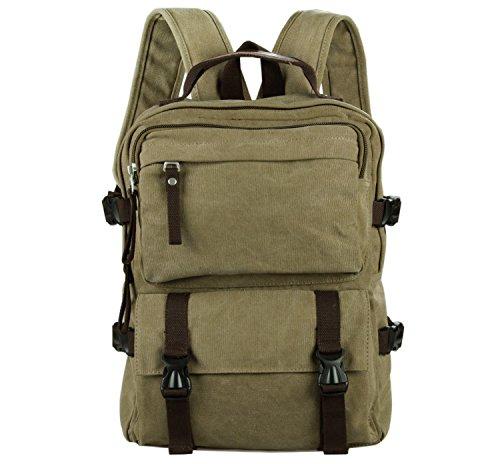 Everdoss Unisexe sac à dos en toile sac de l'école cartable sac d'ordinateur portable sac de loisirs sac scolaire sac de voyage