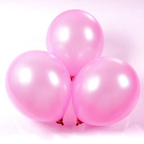 aiernuo-100-pcs-pink-balloons-10-inches-thick-latex-180g-bag-balloons-plain-color-pink-pearlized