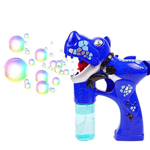 ECMQS Cartoon Dinosaurier Gun Automatische Bubble Maker Gebläse Maschine Musik Licht Kinder Badespielzeug Kinder Frühe Pädagogische Geschenk (Licht Bubble Gun)
