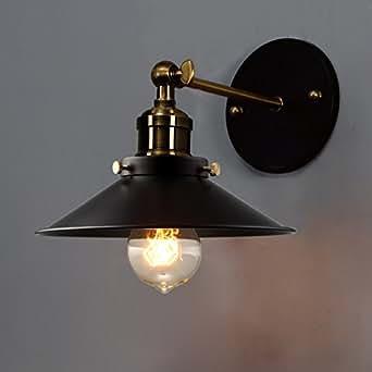 baycheer applique murale l che murs abat jour m tal eclairage decoratif classe nerg tique a. Black Bedroom Furniture Sets. Home Design Ideas