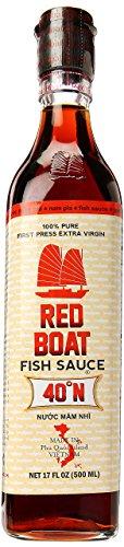 Red Boat Fischsauce (aus Vietnam, 40°N - 100% pure, umami, würzig, ohne Glutamat, ohne Konservierungsstoffe, ohne Zusatzstoffe) 1er Pack (1 x 500 ml)