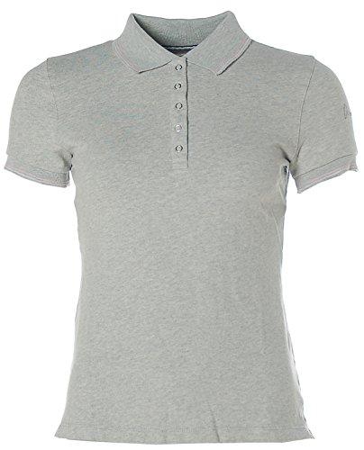 Arqueonautas Damen Kurzarm Shirt Poloshirt Polokragen Pikee Silver Grey melange