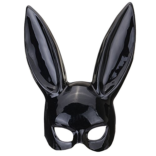Kungfu Mall Hallowmas Sexy Cosplay Mask Bar Ball Masquerade Bunny Girl Rabbit Face PVC Mask