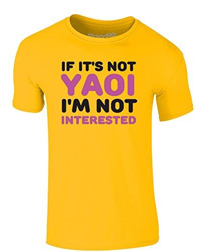 Brand88 - If It's Not Yaoi, I'm Not Interested, Erwachsene Gedrucktes T-Shirt Gänseblümchen-Gelb/Schwarz