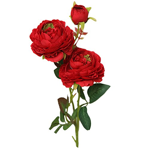 ccessoires & Deko Kunstblumen KüNstliche Rose Pfingstrose Deko BlüTen Plastikblumen Fake Blumengirl Seide Blume Braut Hydrangea Haus Garten Dekor Hochzeit Dekoration ()